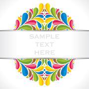 Creative colorful flora banner or brochure design vector Stock Illustration