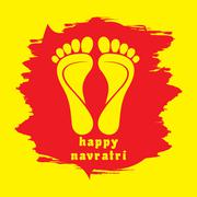happy diwali or navratri festival greeting card background vecto - stock illustration