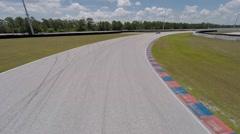 Porsche on race track Stock Footage