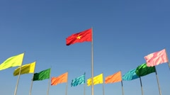 Colourfull flags Stock Footage
