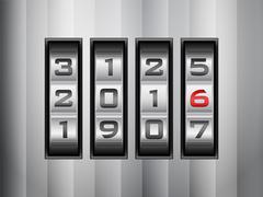 Combination lock 2016 Stock Illustration