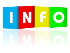 Info paper text - stock illustration