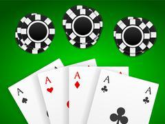 poker game - stock illustration