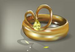 wedding ring - stock illustration