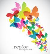 Butterfly design on white background - Vector Illustration Stock Illustration