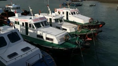 Timelapse view of boats in Vungtau Stock Footage