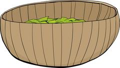 Bamboo Bowl with Salad Piirros