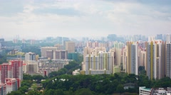 Urban Highrise Towers with Traffic in Timelapse Stock Footage