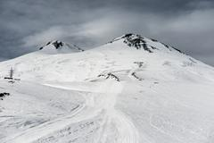 Elbrus in snow Stock Photos