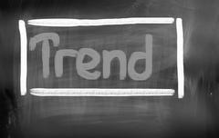 Stock Photo of Trend Concept