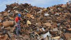 Stock Video Footage of Industry, recycling of metal