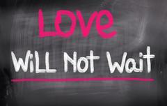Love Will Not Wait Concept Stock Illustration