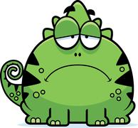 Depressed Little Lizard - stock illustration