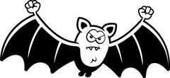 Cartoon Angry Bat Stock Illustration