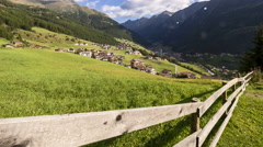 Sölden in the valley Ötztal in Austria - stock footage