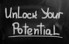 Unlock Your Potential Concept - stock illustration