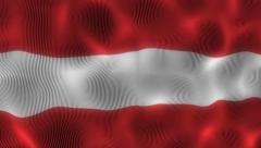 Waving Flag Latvia Stock Footage