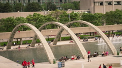 4K Timelapse of Nathan Phillips Square, Toronto Stock Footage