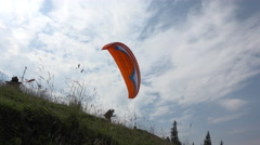 flying with paragliding - stock footage