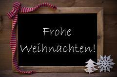 Chalkboard With Decoration Frohe Weihnachten Mean Christmas Kuvituskuvat