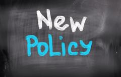 Stock Illustration of New Policy Concept
