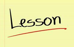 Lesson Concept - stock illustration