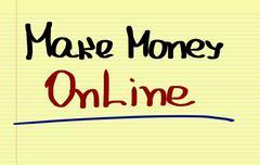 Make Money Online Concept Stock Illustration