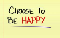 Stock Illustration of Choose To Be Happy Concept