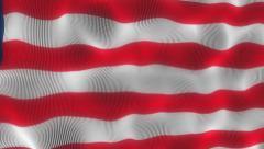 Waving Flag Liberia Stock Footage