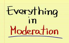 Everything In Moderation Concept Stock Illustration