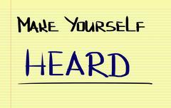 Stock Photo of Make Yourself Heard Concept