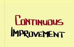 Continuous Improvement Concept - stock illustration