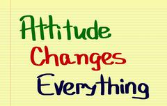 Attitude Changes Everything Concept Stock Illustration