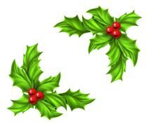 Stock Illustration of Christmas Holly Design