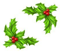Christmas Holly Design - stock illustration