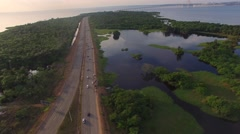 Aerial View of Road in Manaus, Amazon, Brazil Stock Footage