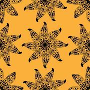 Seamless yellow pattern. Stock Illustration