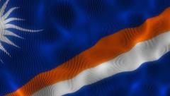Waving Flag Marshall Islands Stock Footage