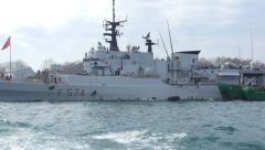 Italian frigate F-574 ITS Aliseo Stock Footage