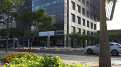 Main Road on Herzliya Pituah Corporate Area Stock Footage