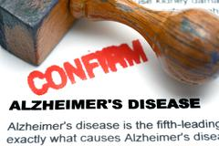 Alzheimer disease confirm Stock Photos