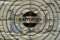 Earnings grunge target - stock photo