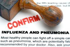 Influenza and pneumonia Stock Photos
