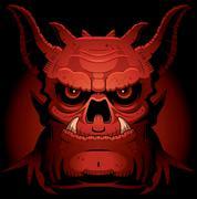 Stock Illustration of Scary Evil Demon