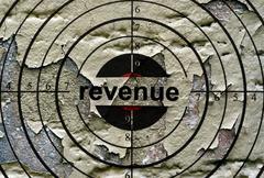 Revenue grunge  target - stock photo