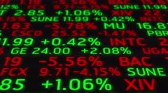4k Stock Market Board Ticker Moving Animation Seamless Loop. - stock footage