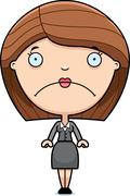 Sad Cartoon Business Woman Stock Illustration