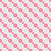 Cute different  seamless pattern. Pink, white and grey color Stock Illustration
