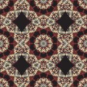 Ornaments Seamless Wallpaper. Stylized Mandala. Circular Ornamental Pattern Stock Illustration