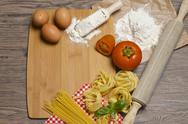 Stock Photo of Pasta and ingredients for pasta